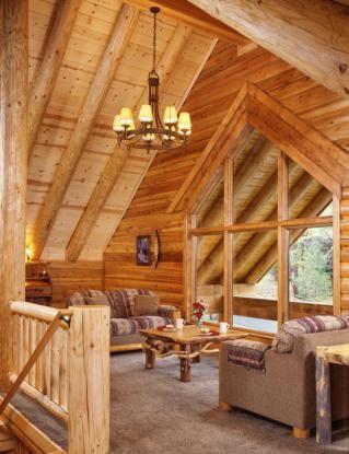 Log Home Balcony/Family Room