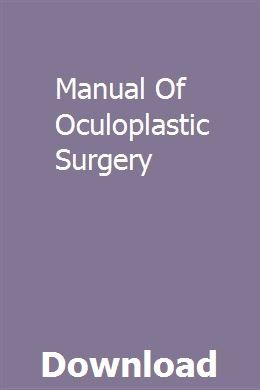 Manual Of Oculoplastic Surgery Pdf Download Online Full Solidworks Tutorial Study Guide User Guide