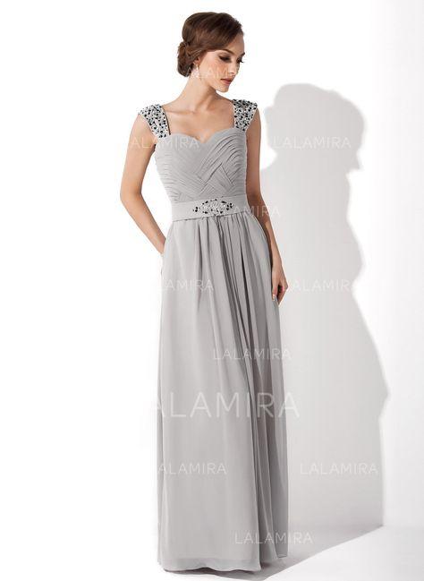 ff50568e47 A-Line Princess Chiffon Sleeveless Sweetheart Floor-Length Zipper Up Mother  of the Bride Dresses  6313 - lalamira