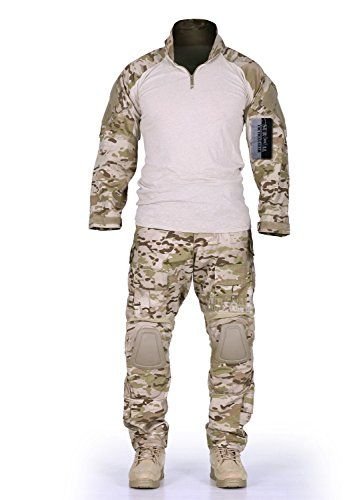 ZAPT Men Military Airsoft Combat BDU Shirt US Army Gen3 Tactical Shirt with Elbow Knee Pads