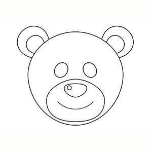 Imagenes De Mascaras De Oso Para Pintar Buscar Con Google Oso