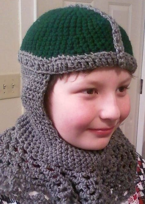 Crusader/Knight Chain Coif Crocheted Hat by FGMCollective on Etsy, $35.00