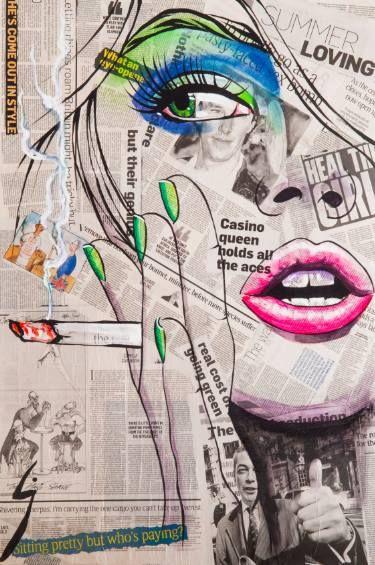 "Saatchi Art Artist Conrad Crispin Jones; Painting, ""Smok'in Ivy"" #art"