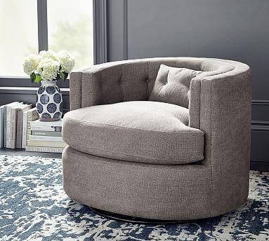 Reed Upholstered Swivel Armchair Upholstered Swivel Chairs Armchair Round Swivel Chair