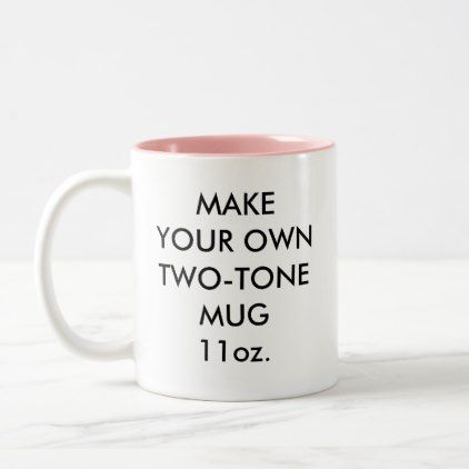 Custom Personalized 11oz Pink Two Tone Mug Zazzle