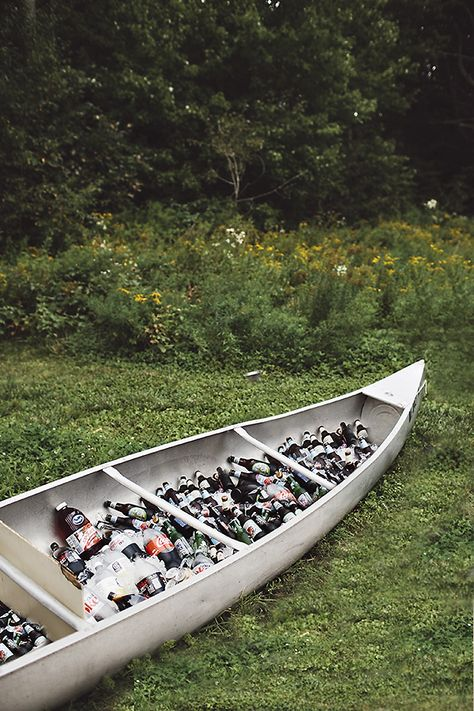 OMG! Brilliant idea for drinks at a lake wedding.