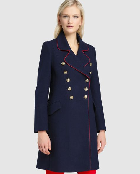 diseño atemporal 850f8 30a75 Abrigo largo de mujer Amitié de estilo militar | Personajes ...