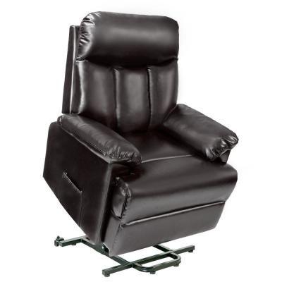 Merax PU Leather Brown Recliner Power Lift Chair PP189768DAA