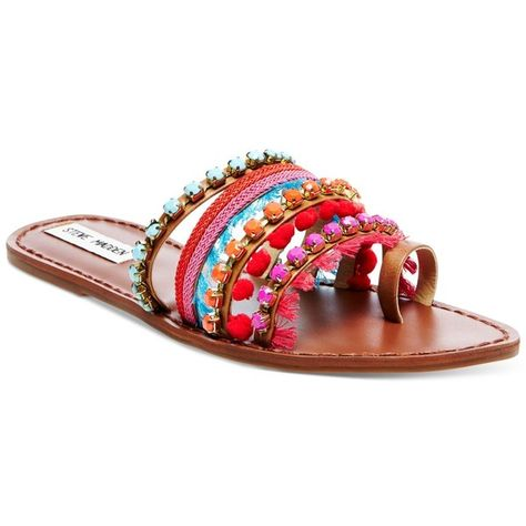 1c3670472 Steve Madden Women s Gypsy Embellished Sandals ( 79) ❤ liked on Polyvore  featuring shoes