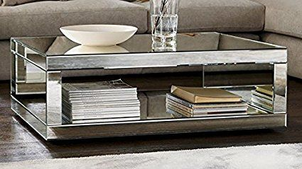 Mobiliermoss Monaco Table Basse Miroir Rectangulaire Design Miroir