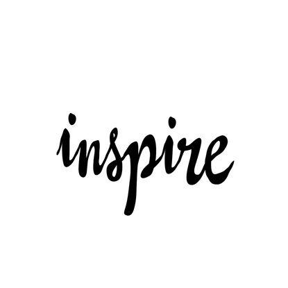 Inspire Black and White Typography Print Art Print