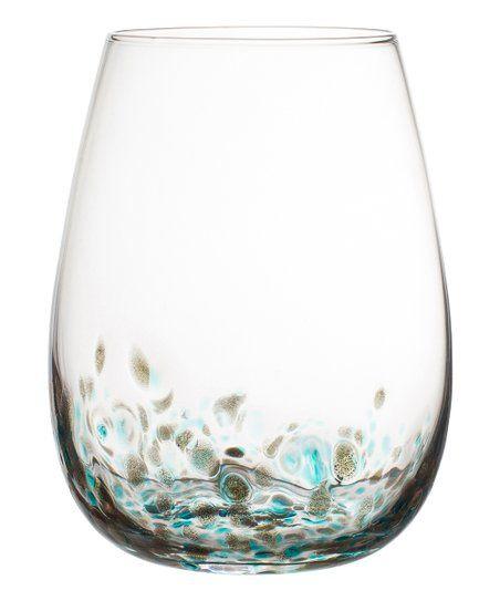 Callie 15 Oz Stemless Wineglass Set Of Four Zulily Fitz And Floyd Wine Glass Ceramic Dinnerware