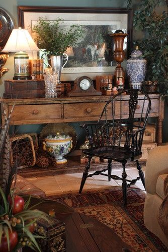 Get Your Home Chic Looking with These 25 Equestrian Chic Decor Ideas – Larina. {} My Life {} English Cottage Style, English Country Style, English Cottages, English Decor, Cottage Interiors, French Country Decorating, Traditional House, Traditional Living Rooms, Traditional Decorating