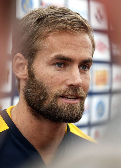 Here is Olof Mellberg. I really want to make an IKEA pun here but…well, let's just admire his magnificent blonde beard instead, shall we? | 18 Swedish Men Who Are So Breathtaking You Actually Won't Be Able To Breathe