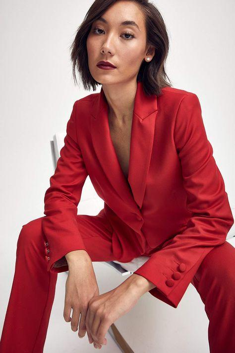 Elizabeth Jacket in Classic Red - 4