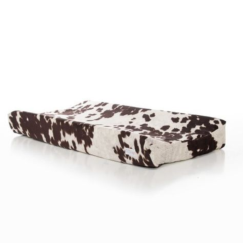 Give your little cowboy a diaper change in style while he lays on the ultra-comfortable Glenna Jean Urban Cowboy Changing Pad Cover. Made with a unique cotton/polyester blend fabric, this changing pad features a soft cow print that resembles cowhide. Western Crib, Western Baby Nurseries, Western Nursery, Cowboy Nursery, Western Babies, Baby Boy Nurseries, Western Baby Bedding, Cowboy Baby, Little Cowboy