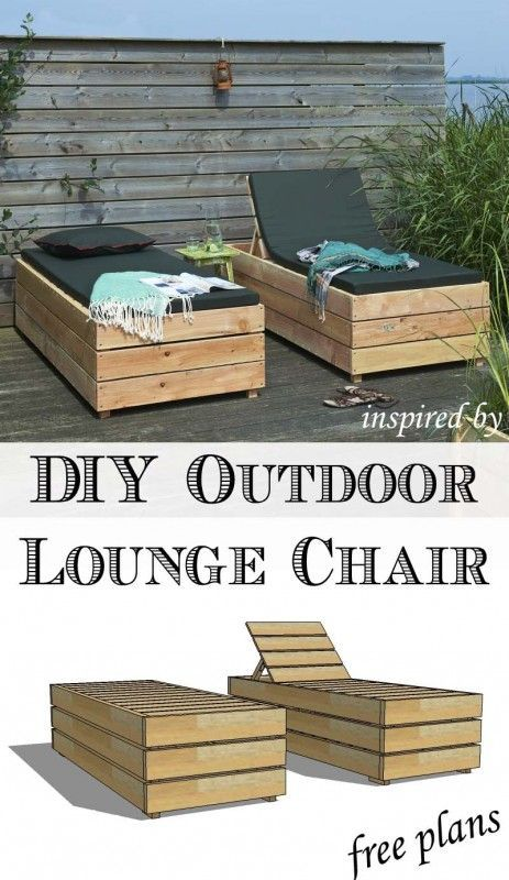Pallet Furniture Outdoor Wood Bench Outdoor Lounge Chairs Diy