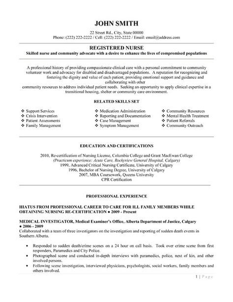 Resume For Registered Nurse Registered Nurse Resume Templatewant It Download It Nursing .