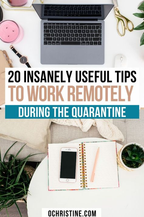 20 Crucial Survival Tips for Working Remotely — O. Christine