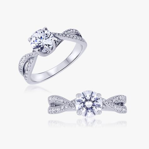 bague solitaire alessandra or blanc