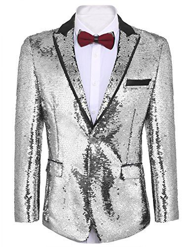 COOFANDY Mens Fashion Tuxedo Jacket Embroidered Suit Jacket Luxury Blazer for Dinner,Party,Wedding,Prom