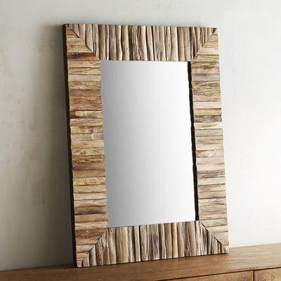 Eternal Natural Wood Framed 30x40 Mirror Bathroom Ideas