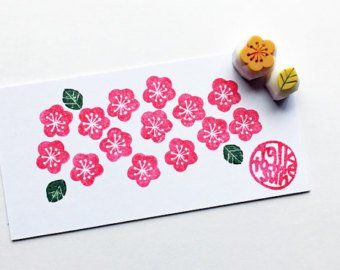 gift wrapping botanical plant hand carved stamps for spring crafts insect /& flower stamps ladybug rubber stamp set card making