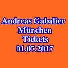 #Ticket  Tickets  ANDREAS GABALIER  MÜNCHEN  Innenraum Stehplätze  Karten  01.07.17 #Ostereich