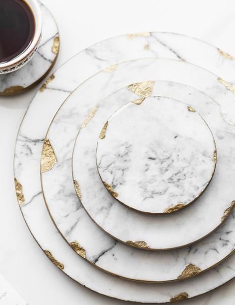 Marmor Tischset Und Untersetzer Marmor Tischset Untersetzer Kitchen Marble Marble Accessories Marble Decor