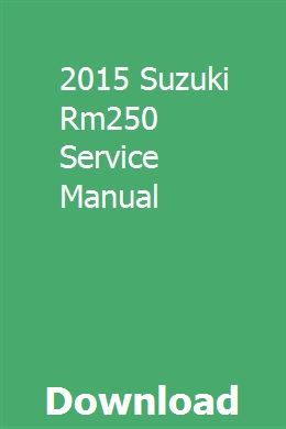 2015 Suzuki Rm250 Service Manual Chilton Manual Owners Manuals Chevy Express