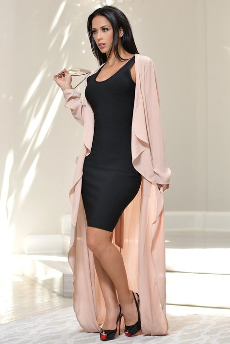 Elle Nude Duster – Fashion Effect Store