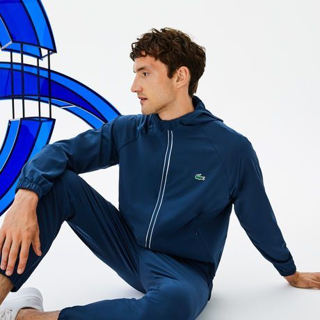 Men S Lacoste Sport Novak Djokovic Off Court Premium Collection Hooded Zip Wool Midlayer Sweatshirt Lacoste Lacoste Men Lacoste Sport Lacoste