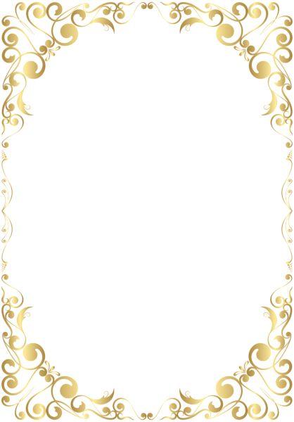 Border Frame Gold Clip Art PNG Image