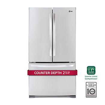 21 Cu Ft Large Capacity Counter Depth 3 Door French Door