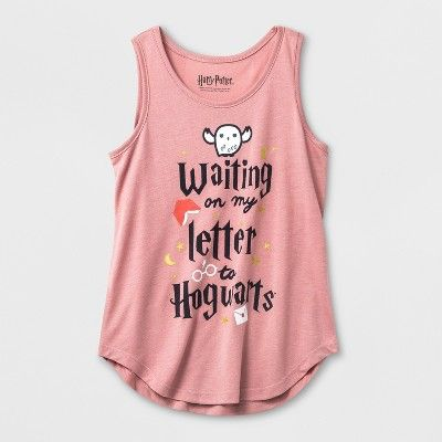 Girls Harry Potter Waiting On My Letter To Hogwarts Tank Top Light Red Target Harry Potter Outfits Harry Potter Girl Hogwarts Tank Top