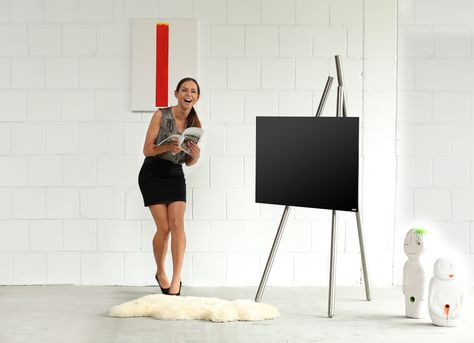 Tv Holder Tripod Art130 Product Design Wissmann Raumobjekte