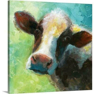 """Colorful Quirky Cow"""" by Nan F Canvas Wall Art #fashion #home #garden #homedcor #postersprints (ebay link)"""