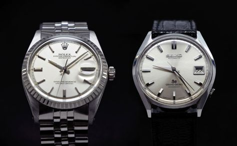 Adventures in Amateur Watch Fettling: Face-Off - Rolex vs. Grand Seiko