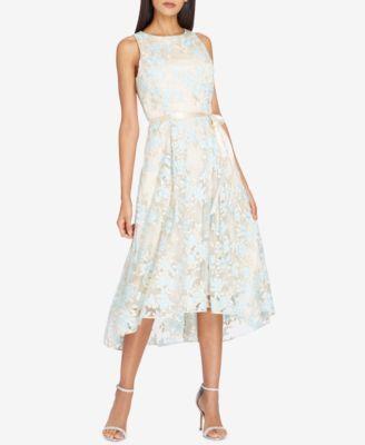 Tahari Asl Embroidered Midi Fit Flare Dress Reviews Dresses Women Macy S Modest Dresses Formal Dresses For Women Womens Cocktail Dresses