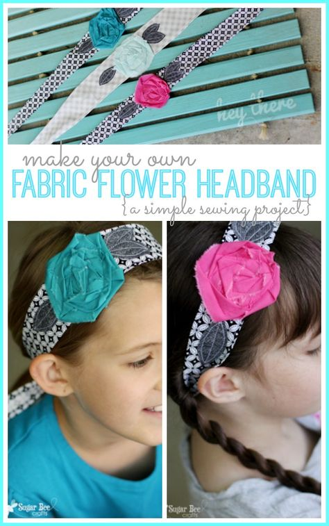 Fabric Flower Headband Wrap