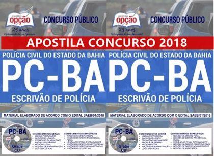 Apostila Concurso Pcba 2018 Escrivao De Policia Concurso Pc