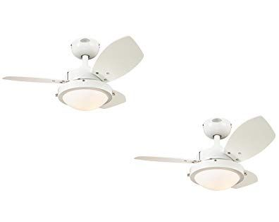 Westinghouse 7247200 Wengue Two Light Reversible Three Blade Indoor Ceiling Fan 30 Inch Opal Frosted Glass White 2 Pack Revi Ceiling Fan Frosted Glass Glass