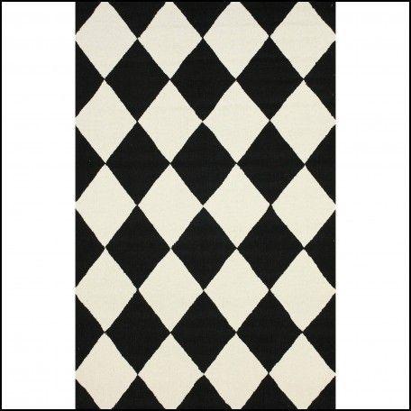 Black And White Checkered Rug Black Rug Plaid Rug Geometric Area Rug