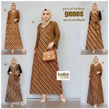 31 Model Baju Gamis Batik Terbaru Top Mode Gaun Lengan Panjang Batik Pakaian Pesta