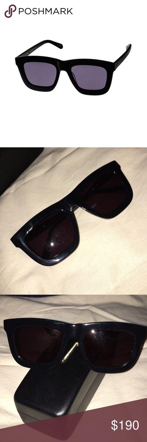 930cb6100b85 Karen Walker Deep Worship Sunglasses UNISEX Black plastic frames. NWOT. No  wipe cloth.