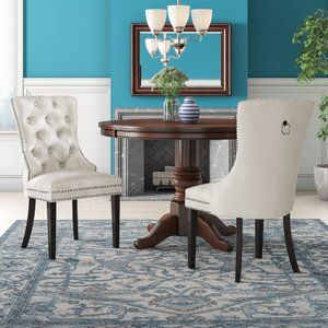 Birch Lane Kanisha Gilchrist Kitchen Island Set With Manufactured Wood Top Reviews Wayfair In 2021 Dining Chairs Upholstered Dining Chairs Dining Chair Upholstery