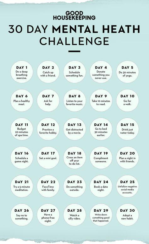 This 30-Day Mental Health Challenge Is Like a Makeover for Your Moodgoodhousemag