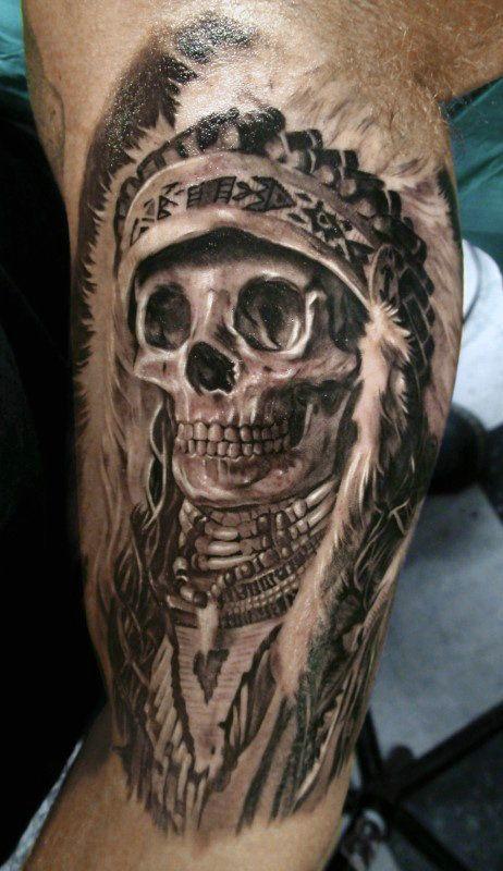 80 Indian Skull Tattoo Designs For Men Cool Ink Ideas Indian Skull Tattoos Indian Skull Skull Tattoo Design
