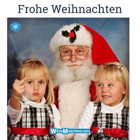 Frohe Weihnachten lustig - Nikolaus witzig - Stinkefinger