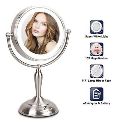 Advertisement Mirrormore Lighted Makeup Mirror 7 5 Inch